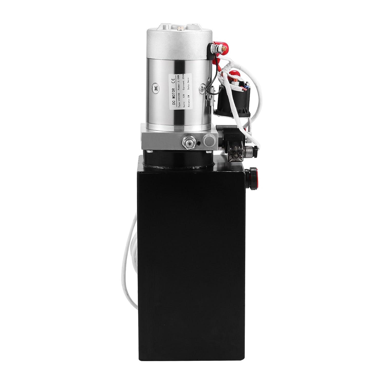 Chaneau 12V Pompe Hydraulique Electrique 8L Pompe Hydraulique Remorque Pompe Hydraulique Double Effet 8L Double Effet