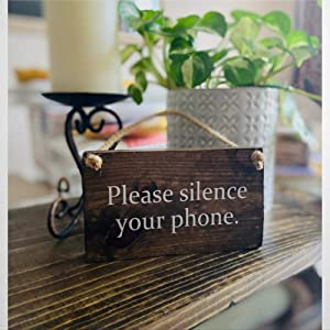 Silence Your Phone Sign Welcome Sign Class In Session Sign Classroom Sign No Cell Phone Sign Wood Sign,Wooden Wall Hanging Art,Inspirational Farmhouse Wall Plaque,Rustic Home Decor For Living Roo