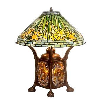 Lámpara de mesa estilo Tiffany, 16 pulgadas, sala de estar ...