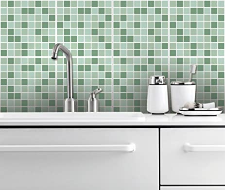 Tiles Stickers Decals   Packs With 24 Tiles (3.9 X 3.9 Inches, Wall Decor