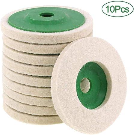 10Pcs 100mm 4 Inch Wool Buffing Angle Grinder Wheel Felt Polishing Disc Pad Set