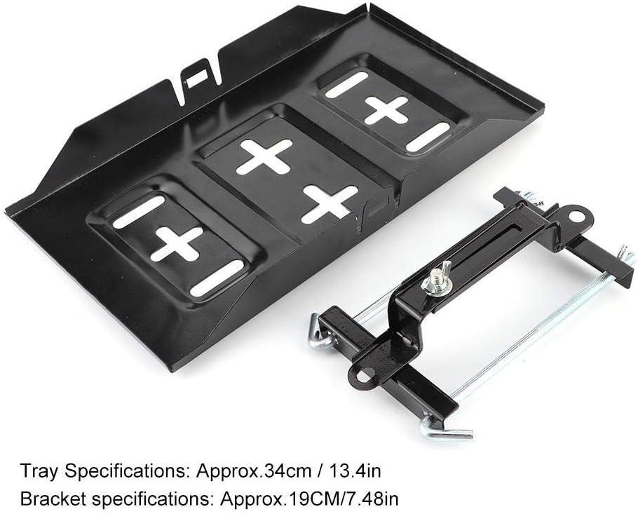 19CM TKSE Storage Battery Holder Tray Mount Hold Down Clamp Bracket Kit Car Accessory
