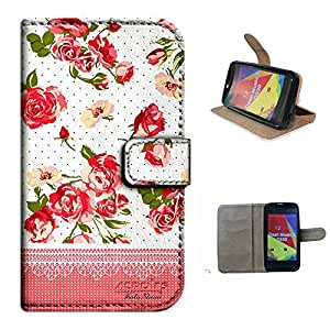 DASH MUSIC 2/D330 case, SoloShow(R) Rose pattern Luxury Wallet PU Leather Holder Pouch case for BLU DASH MUSIC 2/D330 4.0 inch (Rose)