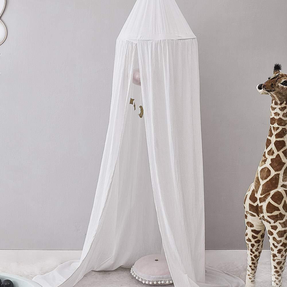 Children Bed Canopy, BOBORA Baby Kids Room Decoration Play Tent Cotton Mosquito Net Children Princess Round Dome Height 240CM