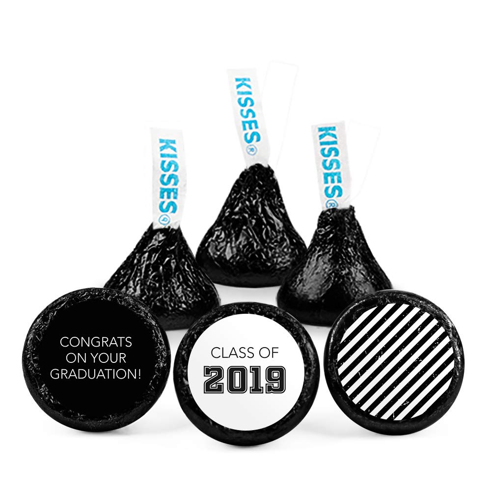 Black Graduation Candy Buffet Class of 2019 (Approx 14lbs) - Includes Hershey's Kisses, Dum Dums Lollipops, Buttermints, Gumballs and More by WH Candy (Image #2)