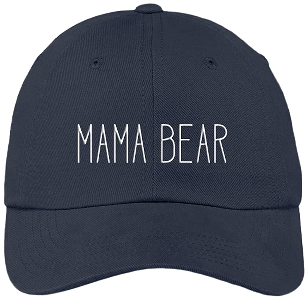 Amazon.com  Sports Accessory Store Mama Bear Funny Navy Blue Baseball Cap  Hat Adjustable Unisex Mom Mother Gift  Clothing 7162fa632da9