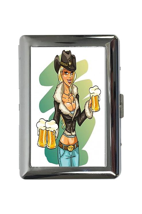 pitillera cigarrera Pin Up Art Adulto Jarra de cerveza impreso