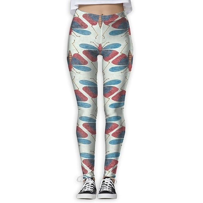 Amazon.com: AFGHCNX Womens Power Dragonfly Yoga Pants Tummy ...