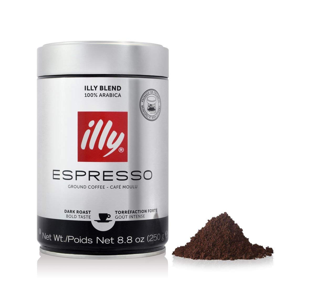 illy Dark Roast Ground Coffee 250 g (Pack of 2): Amazon.es: Salud y cuidado personal