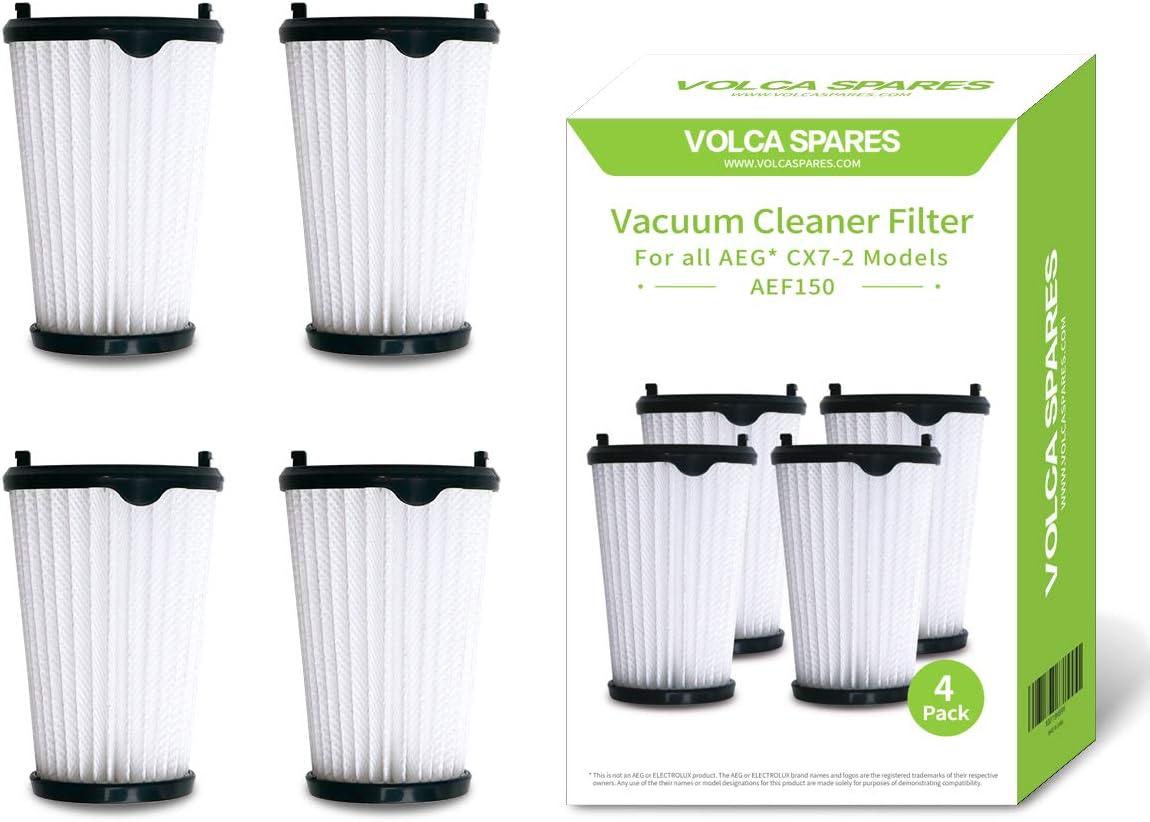 Volca - Juego de 4 filtros de repuesto para aspiradoras AEG AEF150 ...