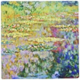 3dRose 8 x 8 x 0.25 Inches Water Lilies on Lake Famous Nature by Impressionist Artist Claude Monet Mouse Pad (mp_155656_1)