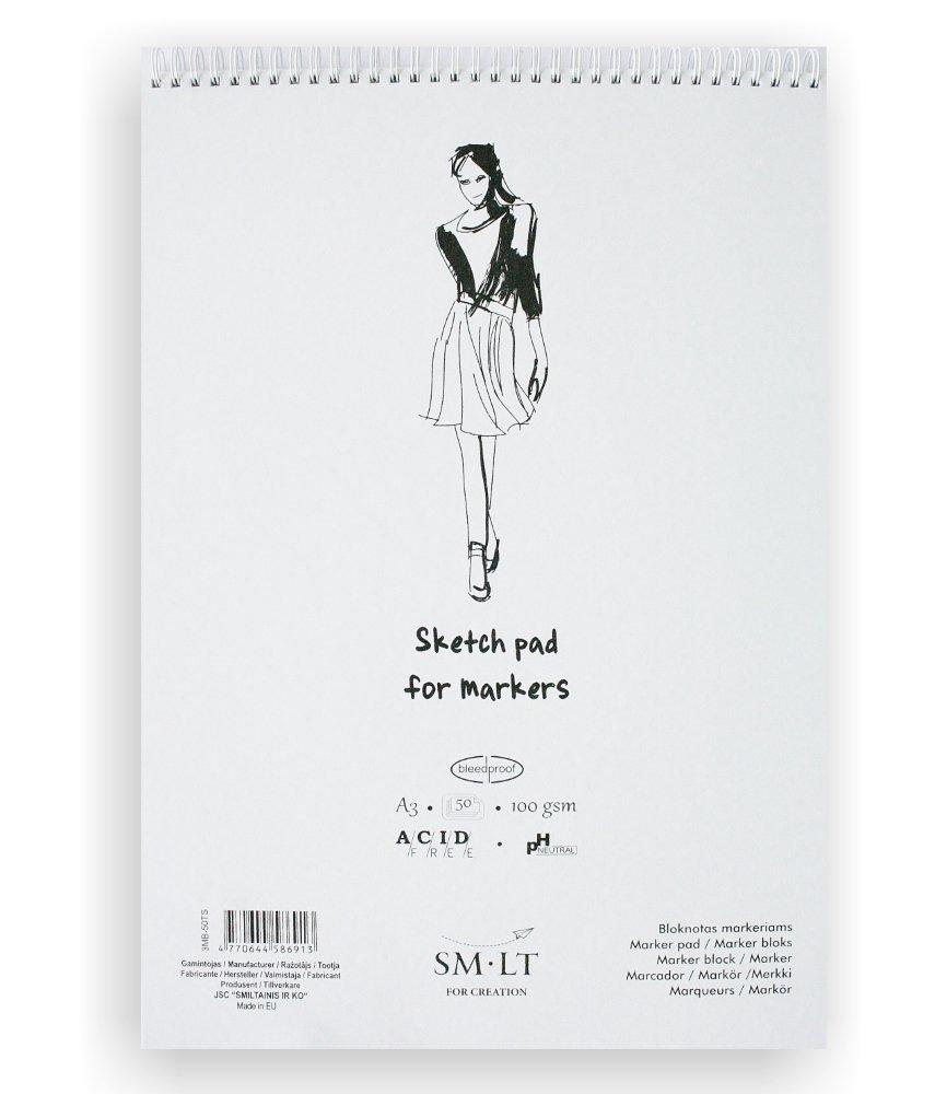 SM. LT 3MB 50ts Sketching Pad A3Pad-White