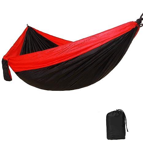 WEIXYDouble Hamaca de camping, ultraligera, portátil, paracaídas ...