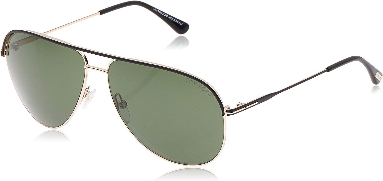 Tom Ford Men/'s Erin TF466 TF//466 05N Black//Gold Fashion Pilot Sunglasses 61mm