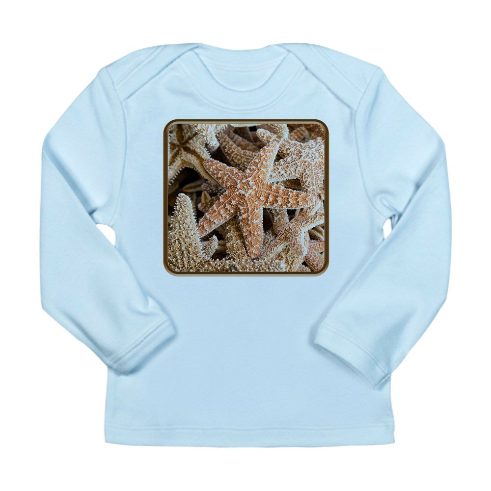 Truly Teague Long Sleeve Infant T-Shirt Collection Of Starfish Sky Blue 6 To 12 Months