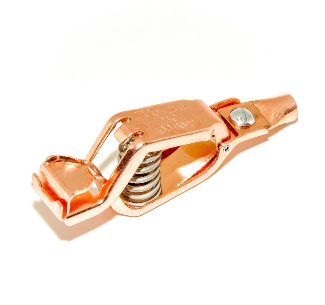 qty 2  75 amps Mueller 25C copper alligator crocodile clips w// insulators