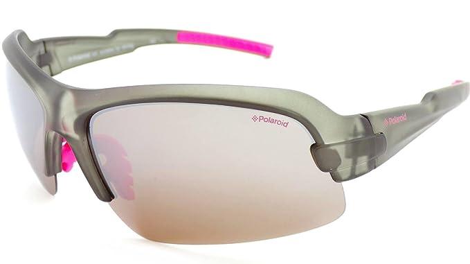 15126780964 Polaroid Womens Polarized Sports Sunglasses Grey P7318 7HH  Amazon ...