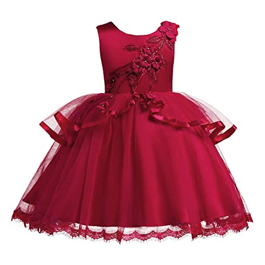 b06b310a6902 Amazon.com  IBTOM CASTLE Baby Girl Flower Pageant Birthday Formal ...
