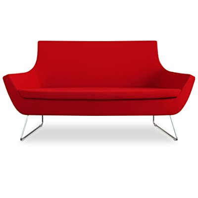 Soho Concept CPST-ACW Rebecca Sofa with Chrome Plated Steel Tubes Base, Amber Camira Wool