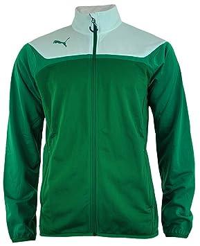 Puma Esito 3 Tricot Track Jacket Hommes Veste Casual Coupe-Vent Vert Blanc 39dfd4e6b02