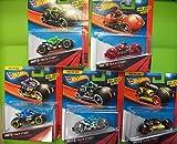 Hot Wheels Set of 5 MOTO Track Stars/ Team Red/Moto-Crossed/Badlander/Cycle Crusher/ Atomix