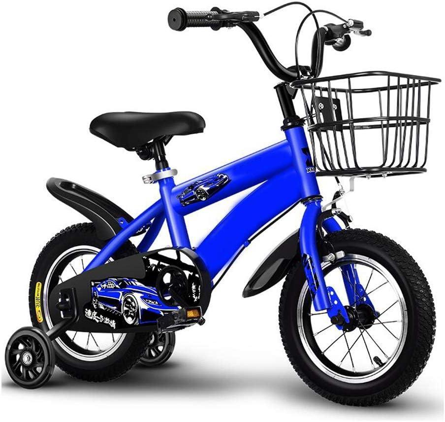 YUMEIGE Bicicletas Bicicletas 12,14,16,18inch, Marco de Acero al Carbono, Bicicleta Infantil, Regalos 2-9 años Los niños de cumpleaños, Bicicleta for niña, con Ruedas de Entrenamiento Y Cesta