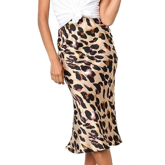 Lenfesh Amarillo Mujer Primavera/Otoño Casual Estampado Leopardo ...
