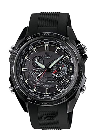 Casio EQS-500C-1A1ER Mens Edifice Solar Black Watch