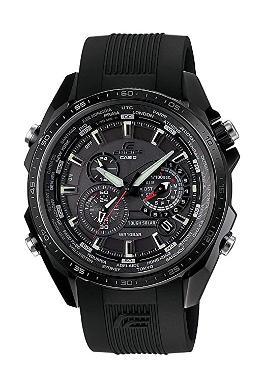 Amazon.com: Casio EQS-500C-1A1ER Mens Edifice Solar Black Watch: Casio: Watches