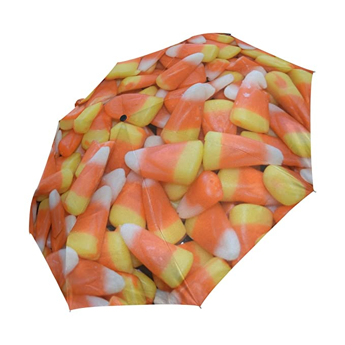 450b848c3f5f DEYYA Corn Candy Halloween Windproof Travel Umbrella Automatically ...