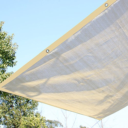 Ecover 10x20ft Sun Mesh Shade Panel,90% Shade Cloth UV Sunblock with Grommets for Patio/Pergola/Canopy,Wheat