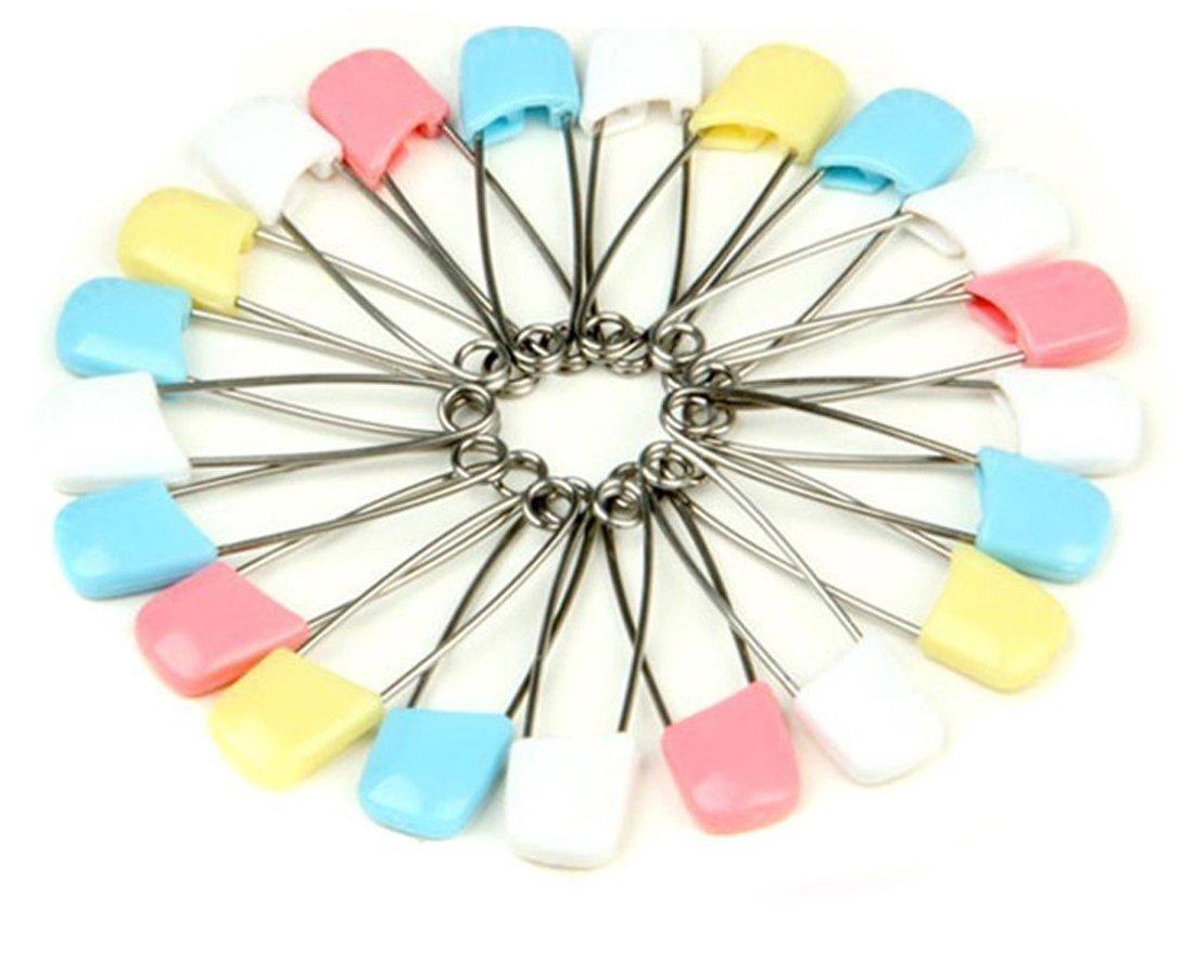 Ewandastore 100PCS Baby Child Infant Kids Cloth Diaper Nappy Pins Safety Safe Hold Clip Locking Cloth