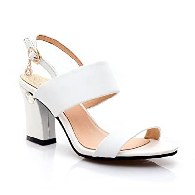 AdeeSu Sandales Pour Femme Blanc, 36 EU, SLC00892