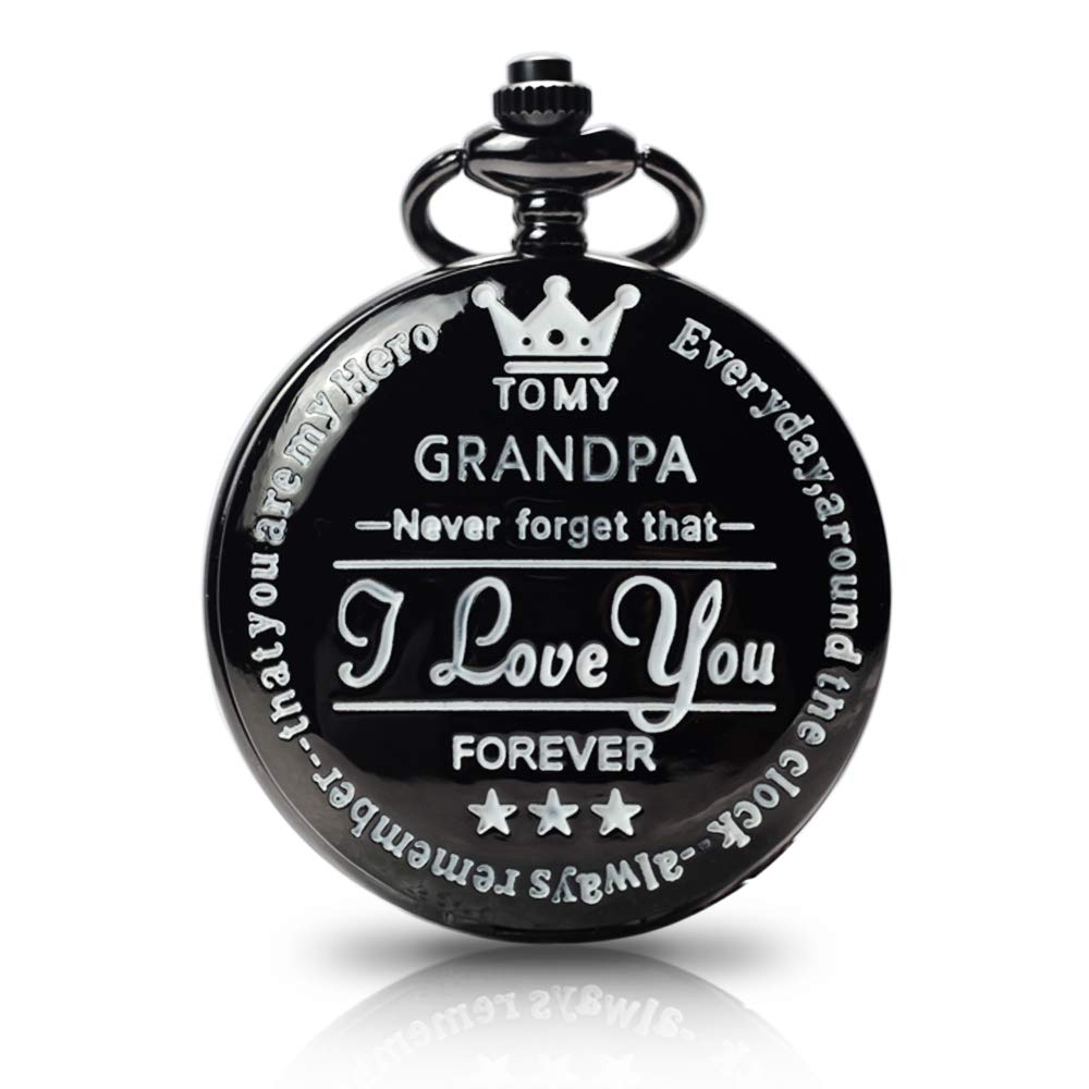 to My Grandpa Pocket Watch Gift,Engraved Pocket Watch for Grandpa Father's Day Christmas, Valentines Day, Birthday by Besfurniture
