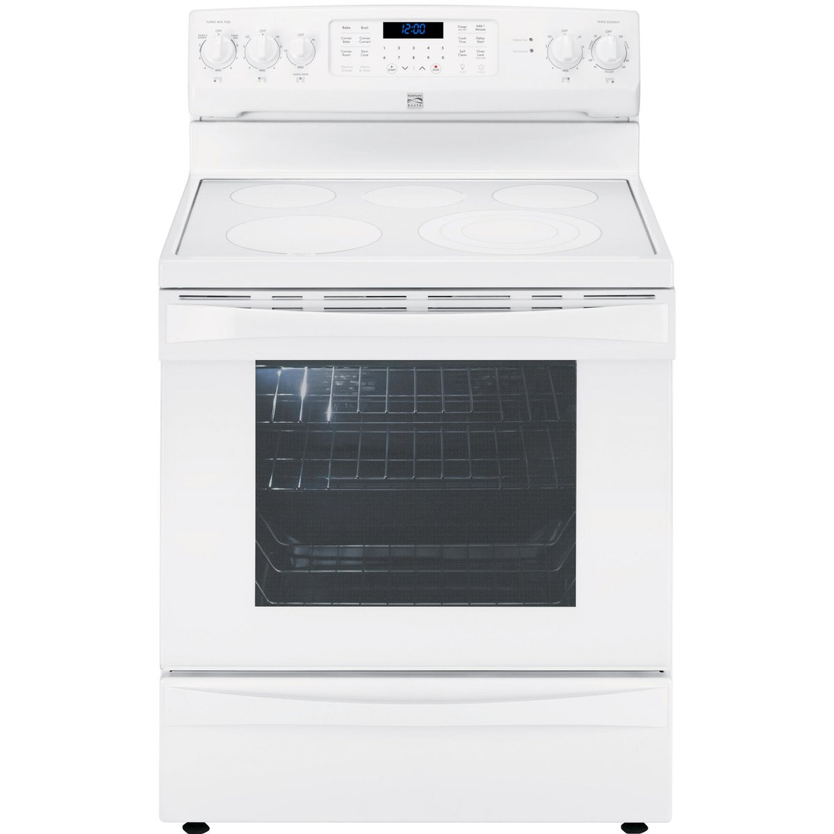 Amazon.com: Kenmore Elite 95052 6.1 cu. ft. Electric Range in White,  includes delivery and hookup: Appliances