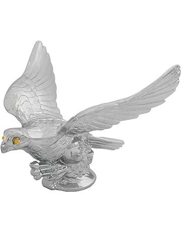 Chrome War Eagle Metal Emblem Hood Ornament Small Show Car Truck Adhesive