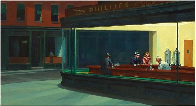 Spiffing Prints Edward Hopper - Nighthawks - Medium - Semi Gloss - Unframed: Amazon.es: Hogar
