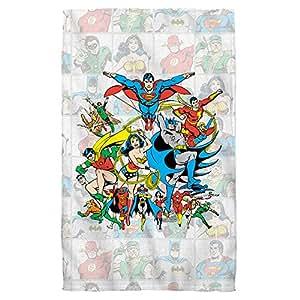 "Classic Squares -- Justice League -- Beach Towel (36"" x 58"")"