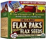 Carrington Farms Organic Flax Paks Milled Flax Seeds 12 Packs 4 oz 12 g Each