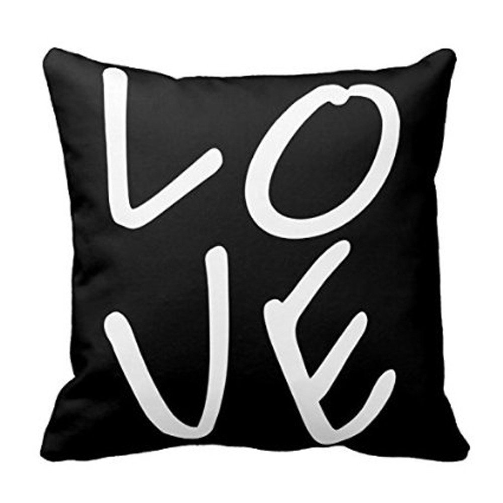 Valentines day love pillow covers valentines day wikii standard size 18x18 inch hidden zipper design material 50 cotton 50 polyester just one cushion cover insert is not include falaconquin
