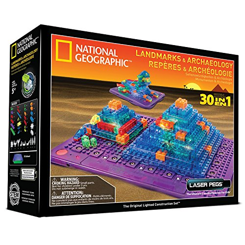 Laser Pegs National Geographic Landmarks and Archaeology Building Kit