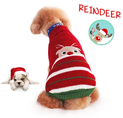 delifur dog ugly christmas sweater xmas sweater dog christmas reindeer sweater cat ugly christmas sweater for