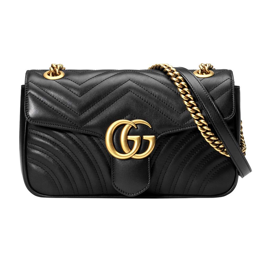Amazon.com  MM-Gucci GG Marmot small matelassé shoulder bag for women  Shoes 3e5b47d01bd3a