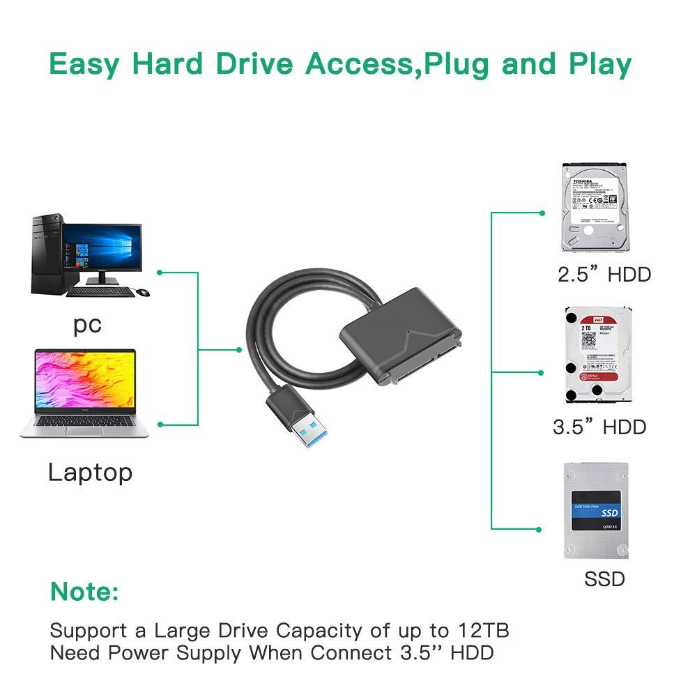 Adaptador USB a SATA USB 3.0 a disco duro convertidor cable ...