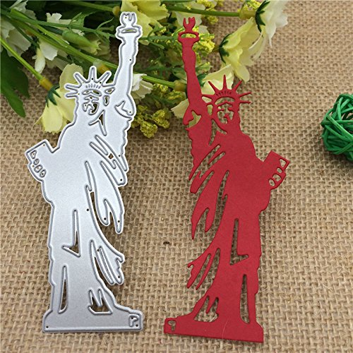 (1PCS/Set USA Statue of Liberty Maker Metal Cutting Dies Stencils for DIY Card Making Album Scrapbooking Craft Die Embossing Paper Cut Autumn Harvestdies-Cutting Dies Cut Metal Scrapbooking)
