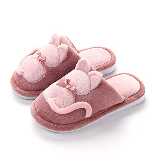 7066b39fddf Tongzone Little Big Kids Cute Cat Slippers