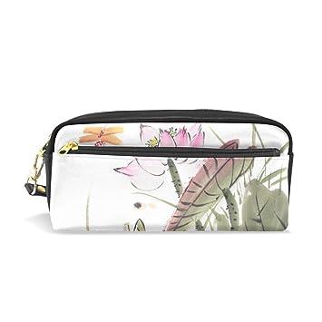 Estuche para lápices con dibujo chino de loto con libélula ...
