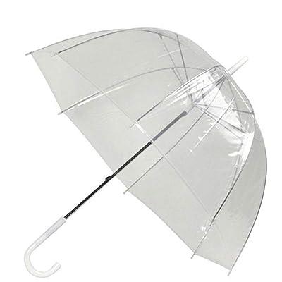 Arch Umbrella Transparent Mushroom Shaped Parasol Clear Sunproof Anti Rain Umbrella Waterproof