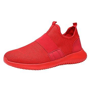 LuckyGirls Zapatillas de Correr Malla Bandage Sin Cordones Casual Calzado de Deporte Transpirables Zapatos Moda Bambas de Running de Las Hombres: Amazon.es: ...