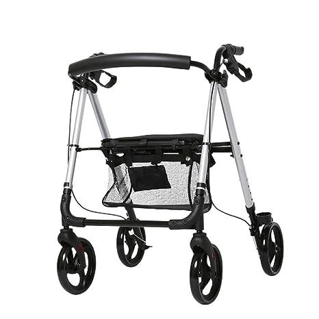 HMHD Rollator/Plegable Andador para Ancianos de 4 Ruedas ...
